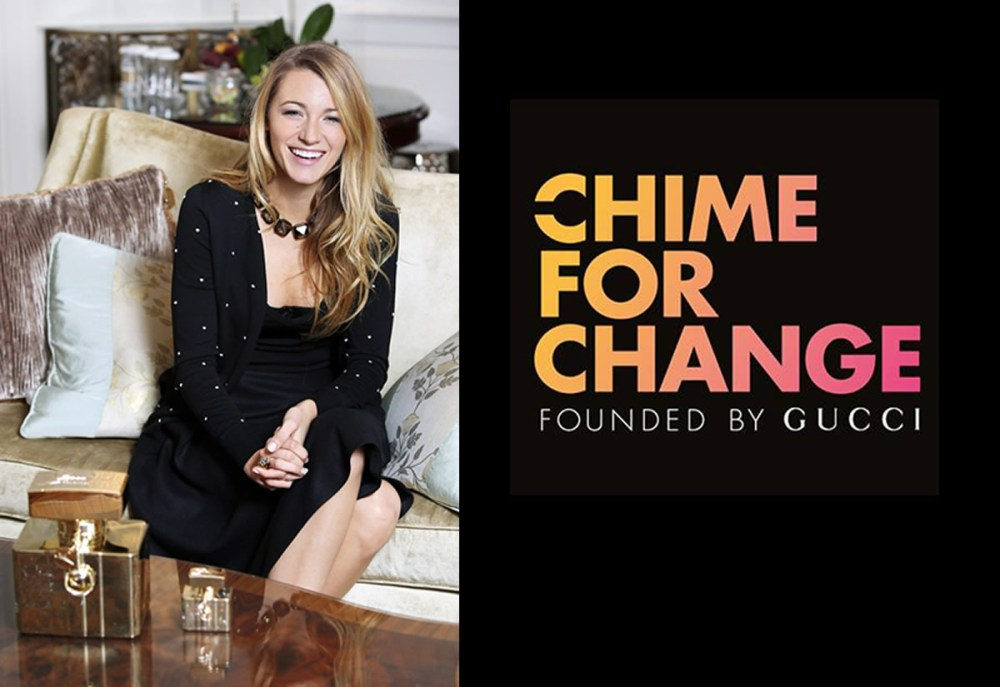 Blake Lively Supports Gucci's Chime For Change