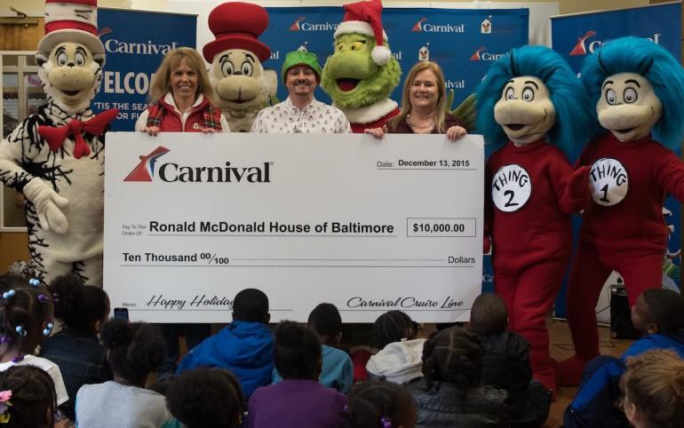 Carnival's Merry Grinchmas Donates $10k to Ronald McDonald House