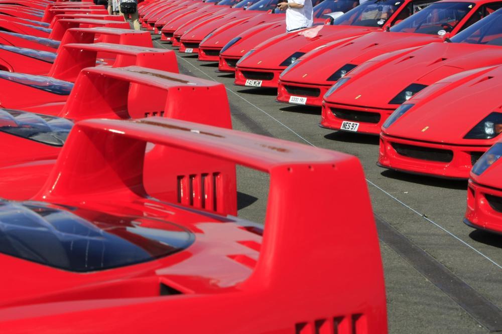 Ferrari F40s at the Classic