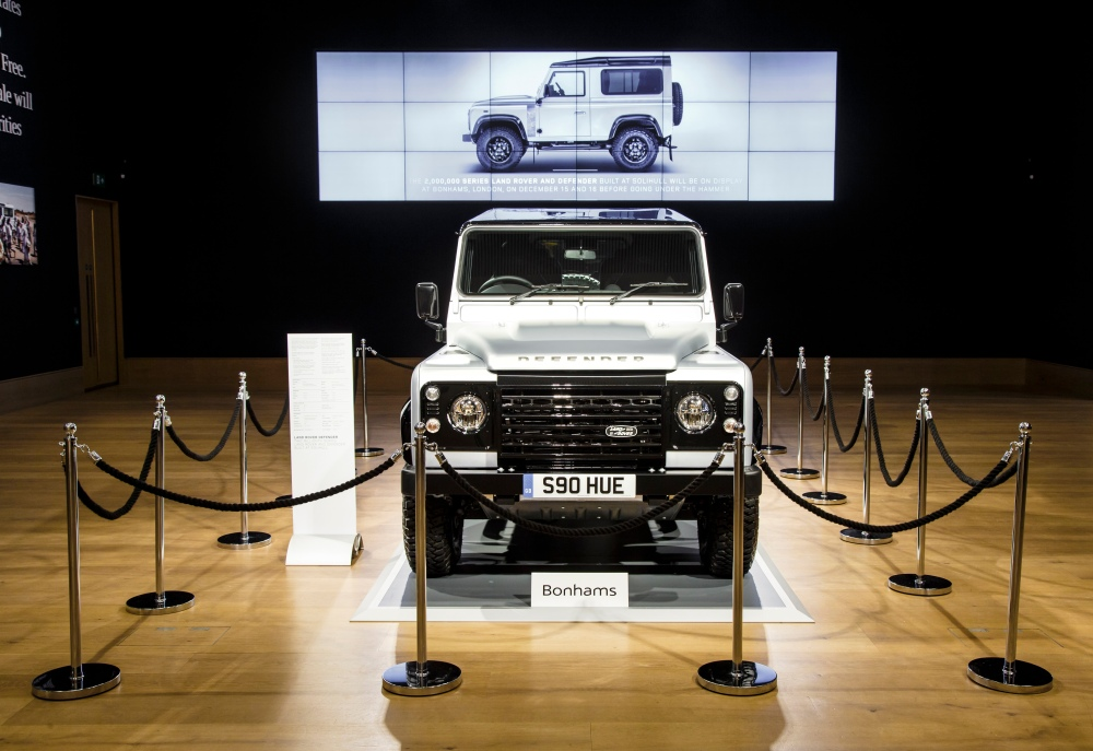 Iconic Defender 2000000 Goes Under the Hammer in London