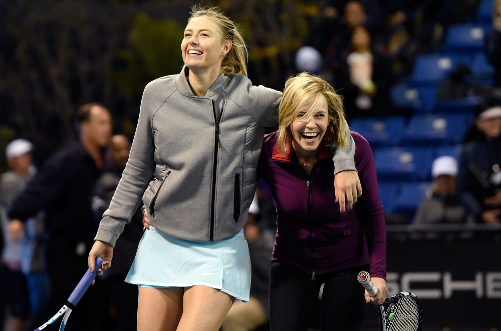 Maria Sharapova (Russia) with Comedian Chelsea Handler (USA)