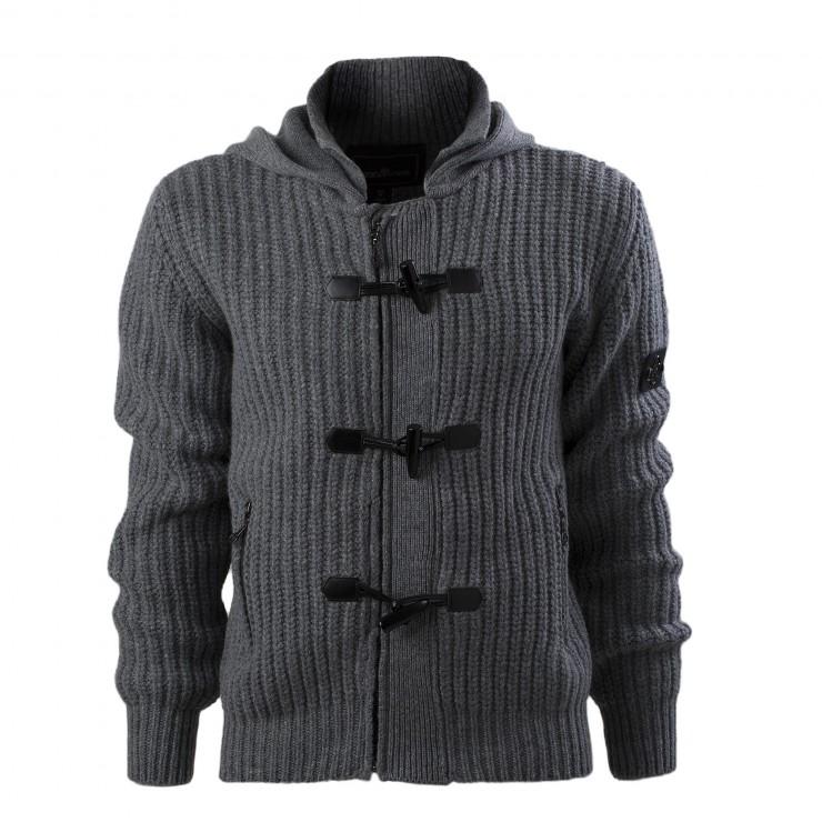 Men's Grey Officine Alfieri Maserati Montgomery Hooded Sweater