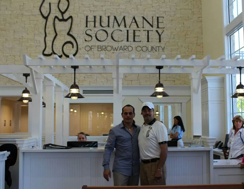 Said Faraj and Stefan du Bois Tour the Humane Society of Broward County During Golf Tournament Fundraiser - Emerging Magazine