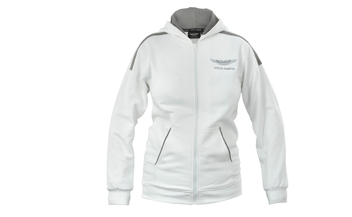 Ladies Jacket With Hood  in White - Aston Martin Style - Emerging Magazine - Fashion News