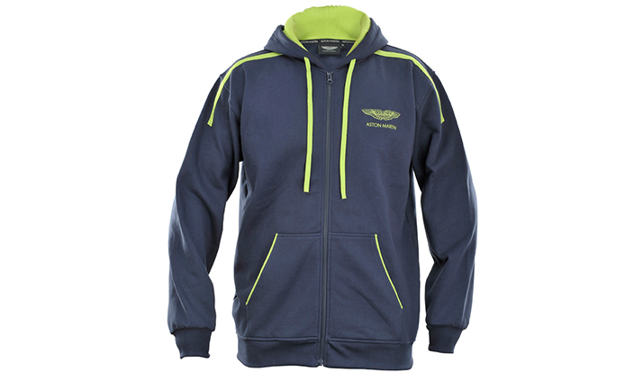 Mens Navy and Green Hoodie - Aston Martin Style - Emerging Magazine - Fashion News