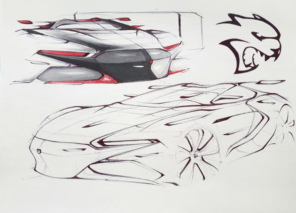 The fourth-place winning sketch for the FCA US Drive for Design competition, designed by Andrew Gombac of Loyola Academy in Wilmette, Illinois - Emerging Magazine Automobile News