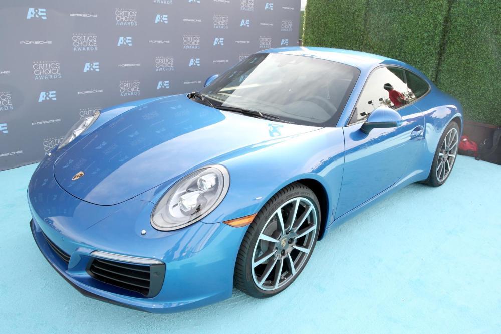 The new Porsche 911 at the Critics' Choice Awards