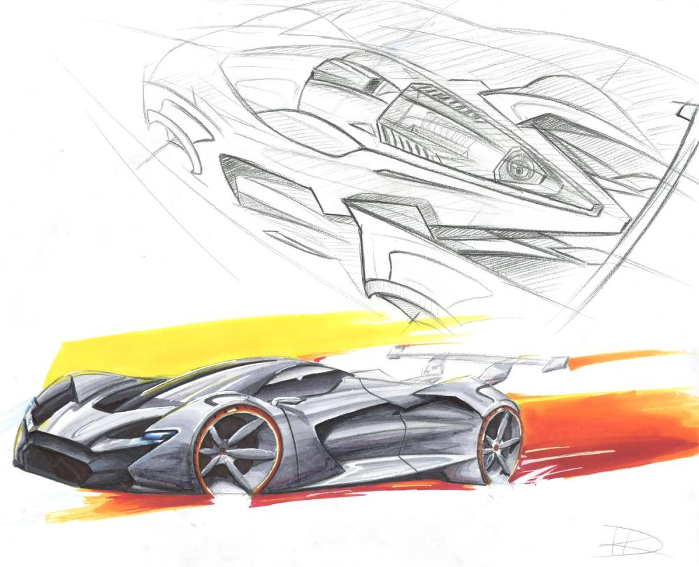 The second-place winning sketch for the FCA US Drive for Design competition, designed by Harrison Kunselman of Mount de Sales Academy in Macon, Georgia - Emerging Magazine Auto News