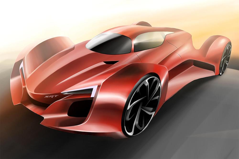 The third-place winning sketch for the FCA US Drive for Design competition, designed by Hwanseong Jang of Bloomfield Hills High School in Bloomfield Hills, Michigan - Emerging Magazine Car News