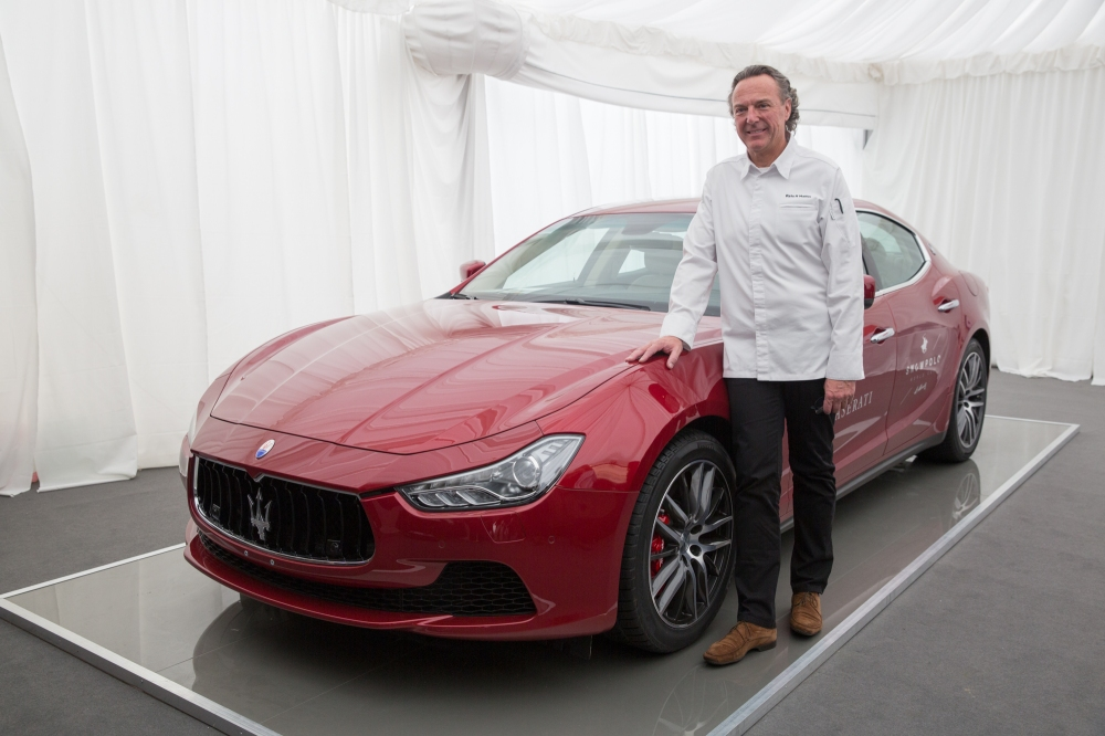 01 Chef Reto Mathis with Maserati Ghibli - Emerging Magazine Maserati News