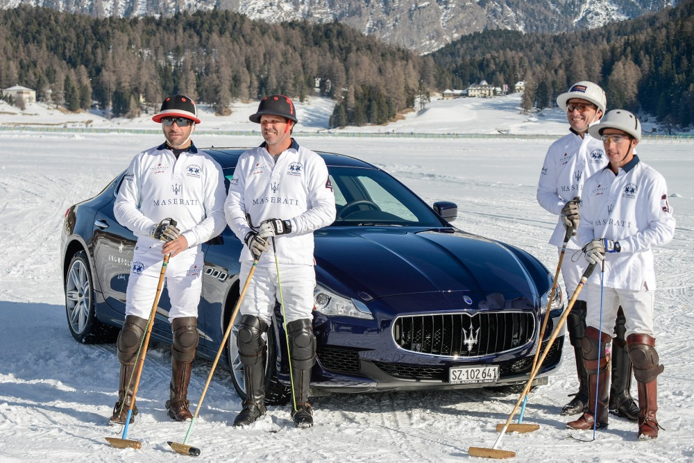 03 Maserati Team with Maserati Quattroporte - Emerging Magazine Maserair News - Polo Matches