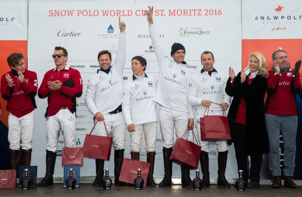 07 Team Maserati wins the Snow Polo World Cup St. Moritz Trophy