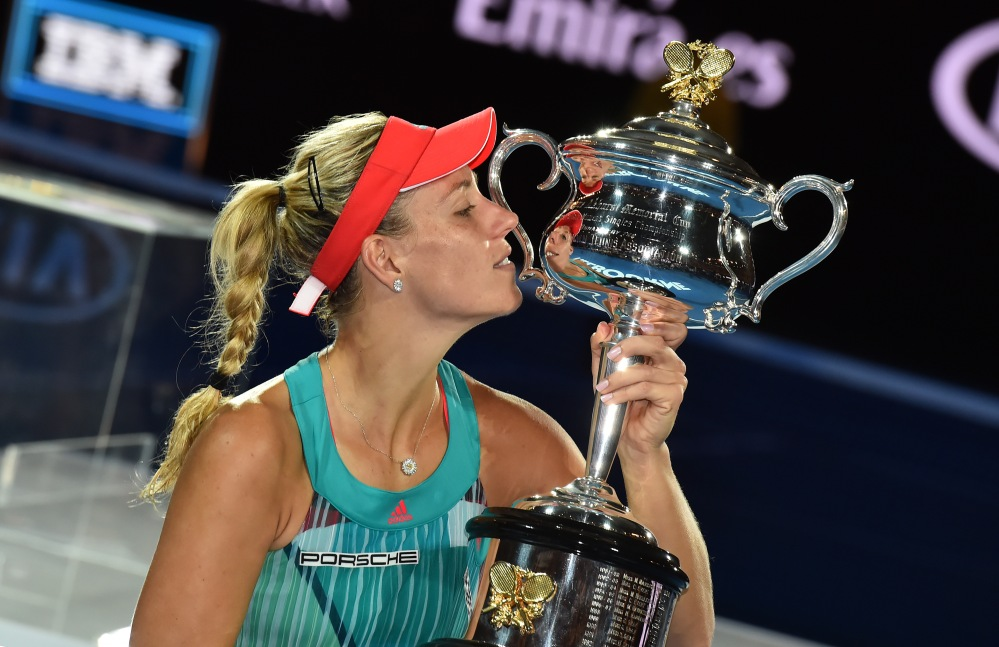 Emerging Magazine Porsche News - Porsche Brand Ambassador Angelique Kerber Celebrates Grand Slam Win At Australian Open (1)