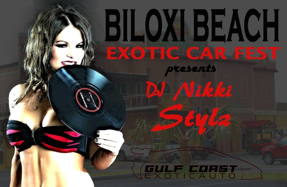 Dj Nikki Stylz Provides Entertainment During Biloxi Beach Exotic Car Fest