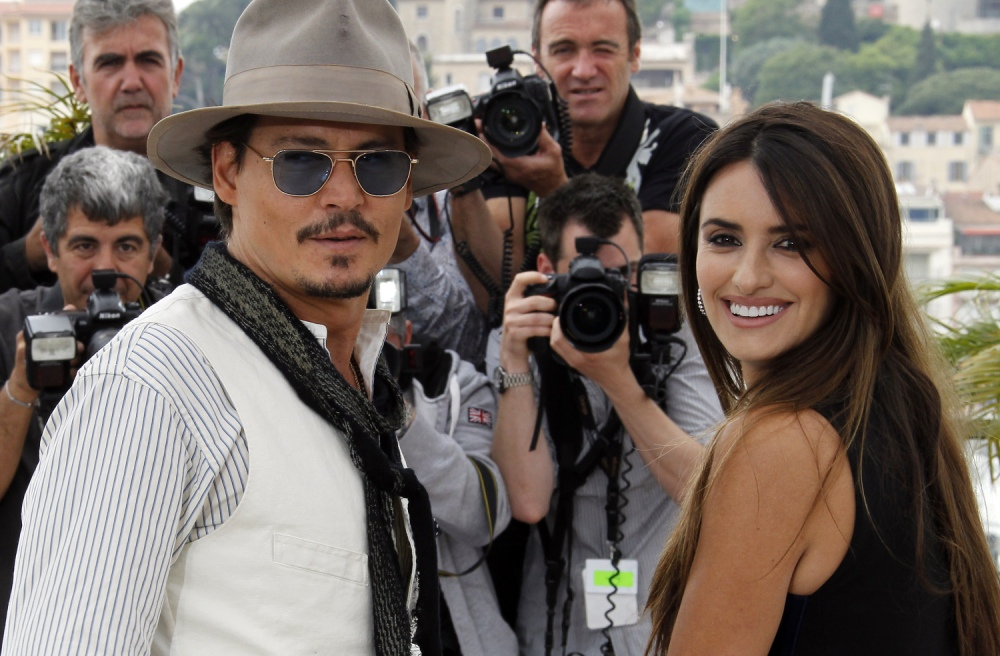 US actor Johnny Depp and Spanish actress